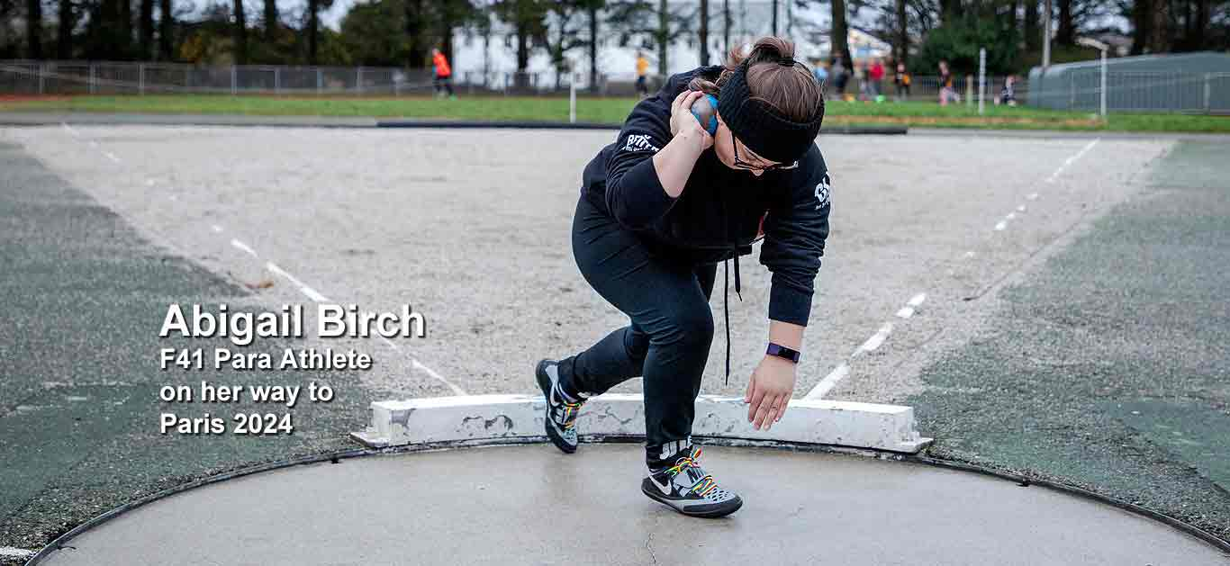 Abigail Birch: 'This shot-put is the most comfortable and sits perfectly in my hand'
