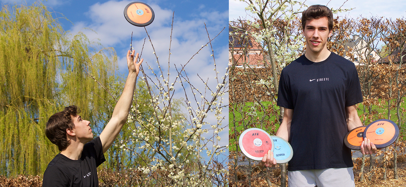Lars Coene: 'I am lucky to have another place where I can effectively throw the ATE discs.'