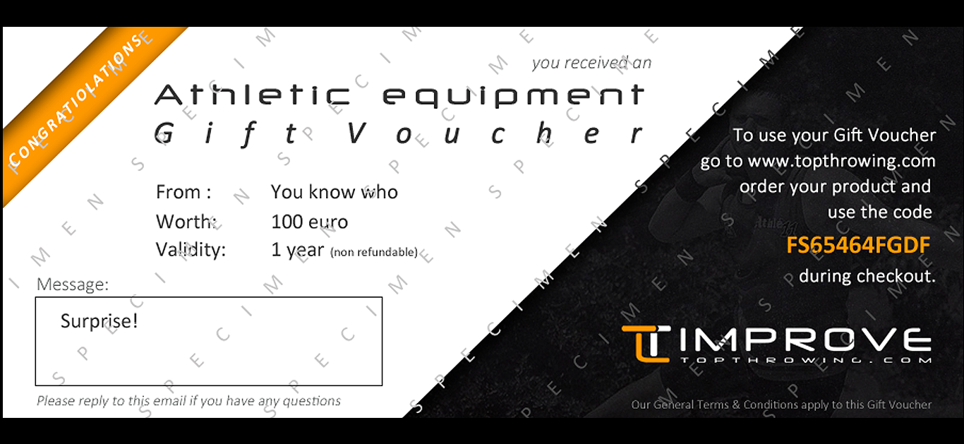 Now available: the TopThrowing Gift Voucher!